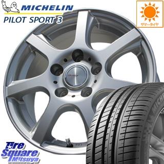 ミシュラン Pilot Sport3 正規品 サマータイヤ 225/40R18 WEDS ヴォルガ7 VOLGA7 取り寄せ ホイールセット 4本 18インチ 18 X 7.5 +35 5穴 114.3