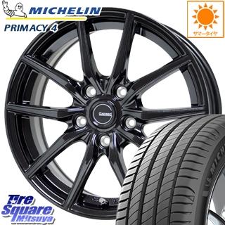 ミシュラン PRIMACY4 プライマシー4 正規品 サマータイヤ 225/40R18 HotStuff G.speed G-02 ブラック ホイールセット 4本 18インチ 18 X 7.5 +55 5穴 114.3