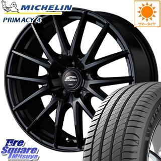 ミシュラン PRIMACY 4 プライマシー4 輸入品 サマータイヤ 225/45R17 MANARAY SCHNEDER SQ27 ブラック ホイールセット 4本 17インチ 17 X 7 +38 5穴 114.3