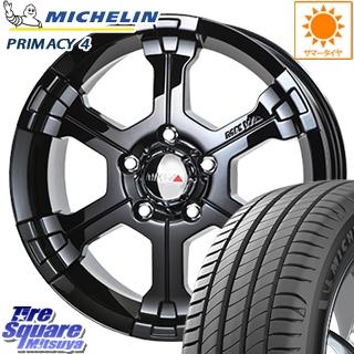 ミシュラン PRIMACY4 プライマシー4 市販品 正規品 サマータイヤ 205/55R16 MKW MK-36 グロスブラック ホイールセット 16インチ 16 X 7.0J +35 5穴 114.3
