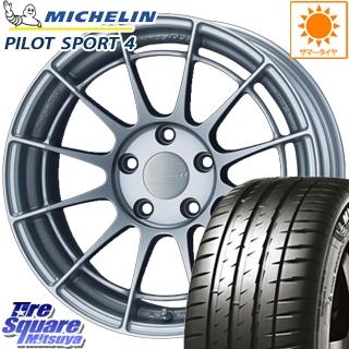 ミシュラン PILOT SPORT4 ST 正規品 サマータイヤ 215/55R17 ENKEI エンケイ Racing Revolution NT03RR ホイールセット 17 X 7.0J +48 5穴 114.3