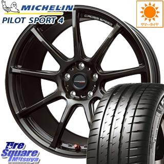 ミシュラン 輸入品 PILOT SPORT4 サマータイヤ 225/40R18 HotStuff クロススピード RS9 ハイパーエディション 軽量 ホイールセット 4本 18インチ 18 X 8.5 +38 5穴 114.3