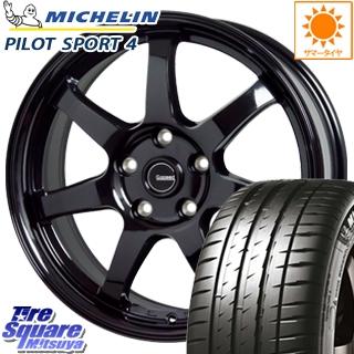 ミシュラン PILOT SPORT4 輸入品 サマータイヤ 205/55R16 HotStuff G-SPEED G-03 ブラック ホイールセット 4本 16インチ 16 X 6.5 +38 5穴 114.3