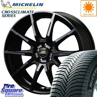 ミシュラン CROSSCLIMATE クロスクライメイト + 正規品 オールシーズンタイヤ 195/60R16 MANARAY SCHNEDER シュナイダー DR-01 ホイールセット 4本 16インチ 16 X 6.5 +48 5穴 114.3