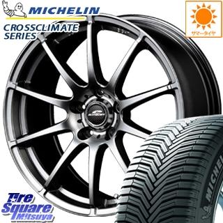 ミシュラン CROSSCLIMATE クロスクライメイト + 正規品 オールシーズンタイヤ 215/60R16 MANARAY SCHNERDER StaG ホイールセット 4本 16インチ 16 X 6.5 +48 5穴 114.3