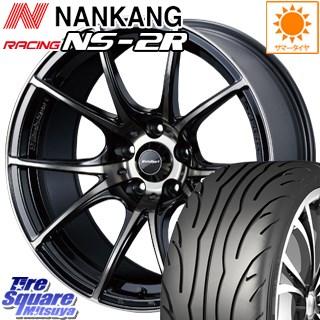 NANKANG TIRE ナンカン NS-2R コンパウンド120 競技用 サマータイヤ 225/40R18 WEDS WedsSport ウェッズ スポーツ SA-10R ホイールセット 4本 18インチ 18 X 8.5 +45 5穴 114.3