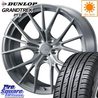 DUNLOP ダンロップ GRANDTREK PT3 グラントレック サマータイヤ 235/55R18 WEDS F ZERO FZ-1 鍛造 FORGED ホイールセット 4本 18 X 7.5 +38 5穴 114.3