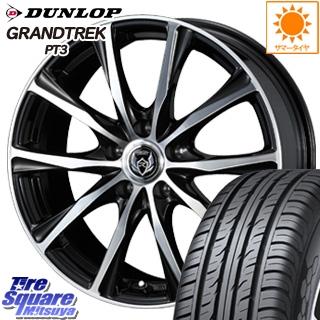 DUNLOP ダンロップ GRANDTREK PT3 グラントレック サマータイヤ 215/60R17 WEDS 37473 ウェッズ RIZLEY ライツレー ZM ホイールセット 4本 17インチ 17 X 7 +48 5穴 114.3