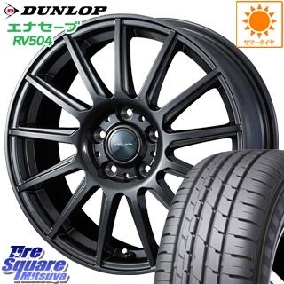 DUNLOP ダンロップ エナセーブ RV504 ENASAVE ミニバン サマータイヤ 215/60R16 WEDS ヴェルバ イゴール ホイールセット 4本 18インチ 16 X 6.5 +53 5穴 114.3