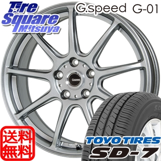 TOYOTIRES トーヨー タイヤ 国内メーカー SD-7 サマータイヤ 215/55R17 HotStuff 軽量設計!G.speed G-01 ホイールセット 4本 17インチ 17 X 7 +55 5穴 114.3