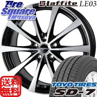 TOYOTIRES トーヨー タイヤ 国内メーカー SD-7 サマータイヤ 215/55R17 HotStuff Laffite ラフィット LE-03 ホイールセット 4本 17インチ 17 X 7 +38 5穴 114.3