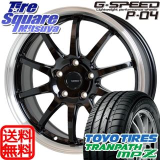 TOYOTIRES トーヨー トランパス MPZ ミニバン TRANPATH サマータイヤ 215/70R16 HotStuff 軽量設計!G.speed P-04 ホイールセット 4本 16インチ 16 X 6.5 +48 5穴 114.3