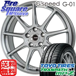 TOYOTIRES トーヨー トランパス MPZ ミニバン TRANPATH サマータイヤ 215/45R18 HotStuff 軽量設計!G.speed G-01 ホイールセット 4本 18インチ 18 X 7.5 +48 5穴 114.3