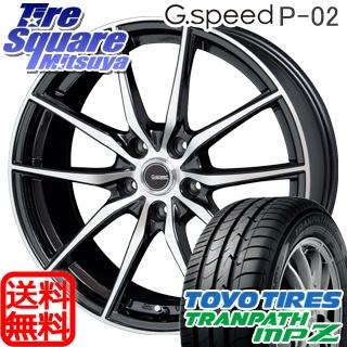 TOYOTIRES トーヨー トランパス MPZ ミニバン TRANPATH サマータイヤ 205/65R16 HotStuff 軽量設計!G.speed P-02 ホイールセット 4本 16インチ 16 X 6.5 +48 5穴 114.3
