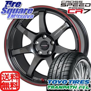 TOYOTIRES トーヨー トランパス ML ミニバン TRANPATH サマータイヤ 215/45R18 HotStuff クロススピードハイパーエディション CR7 4本 ホイールセット 18インチ 18 X 7.5 +48 5穴 114.3