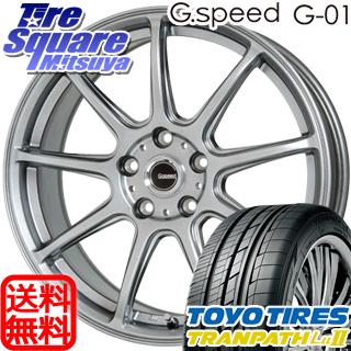 TOYOTIRES トーヨー トランパス Lu2 TRANPATH ミニバン サマータイヤ 215/60R17 HotStuff 軽量設計!G.speed G-01 ホイールセット 4本 17インチ 17 X 7 +55 5穴 114.3