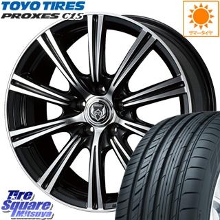 TOYOTIRES トーヨー プロクセス C1S PROXES サマータイヤ 215/65R15 WEDS ウェッズ RIZLEY ライツレー XS ホイールセット 4本 15インチ 15 X 6 +43 5穴 114.3