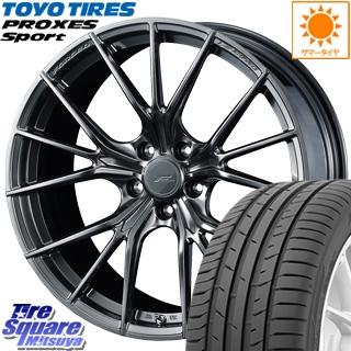 TOYOTIRES トーヨー プロクセス スポーツ PROXES Sport サマータイヤ 245/35R19 WEDS F ZERO FZ-1 鍛造 FORGED ホイールセット 4本 19 X 8 +48 5穴 114.3