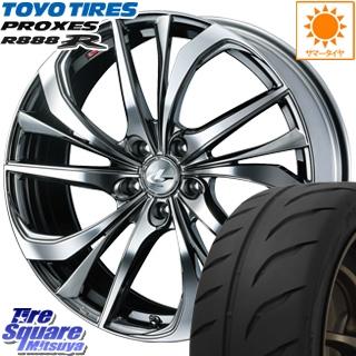 TOYOTIRES トーヨー プロクセス R888R PROXES サマータイヤ 235/35R19 WEDS ウェッズ Leonis レオニス TE ホイールセット 4本 19インチ 19 X 8 +43 5穴 114.3