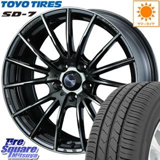 TOYOTIRES 【5月発売】トーヨー タイヤ SD-7 サマータイヤ 215/60R17 WEDS SA-35R ウェッズ スポーツ ホイールセット 17インチ 17 X 7.5J +45 5穴 114.3