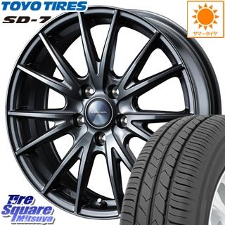 TOYOTIRES トーヨー タイヤ SD-7 サマータイヤ 225/55R17 WEDS 35121 ウェッズ ヴェルヴァ スポルト ホイールセット 17インチ 17 X 7.0J +40 5穴 114.3