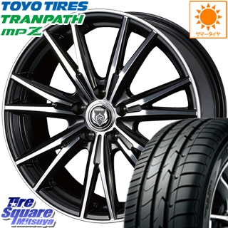 TOYOTIRES トーヨー トランパス MPZ ミニバン TRANPATH サマータイヤ 215/60R16 WEDS ウェッズ RIZLEY ライツレー DK ホイールセット 4本 16インチ 16 X 6.5 +53 5穴 114.3