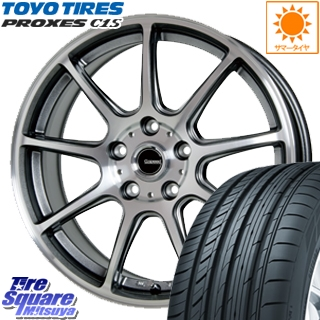 TOYOTIRES トーヨー プロクセス C1S PROXES サマータイヤ 215/55R17 HotStuff 軽量設計!G.speed P-01 ホイールセット 4本 17インチ 17 X 7 +50 5穴 100