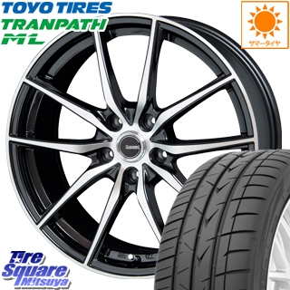 TOYOTIRES トーヨー トランパス ML ミニバン TRANPATH サマータイヤ 205/60R16 HotStuff 軽量設計!G.speed P-02 ホイールセット 4本 16インチ 16 X 6.5 +48 5穴 114.3
