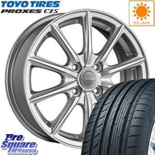 TOYOTIRES トーヨー プロクセス C1S PROXES サマータイヤ 195/65R15 ブリヂストン エコフォルム SE-15 平座仕様(トヨタ車専用) ホイールセット 4本 15インチ 15 X 5.5 +45 4穴 100