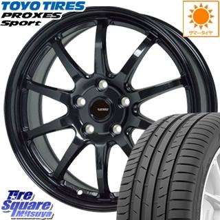 TOYOTIRES トーヨー プロクセス スポーツ PROXES Sport サマータイヤ 225/45R17 HotStuff G-SPEED G-04 ブラック ホイールセット 4本 17インチ 17 X 7 +48 5穴 114.3