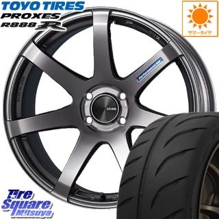 TOYOTIRES トーヨー プロクセス R888R PROXES サマータイヤ 195/55R15 ENKEI PerformanceLine PF07 ホイールセット 4本 15 X 6 +45 4穴 100