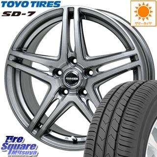 TOYOTIRES トーヨー タイヤ 国内メーカー SD-7 サマータイヤ 215/60R16 HotStuff WAREN ヴァーレン W04 4本 ホイールセット 16インチ 16 X 6.5 +53 5穴 114.3