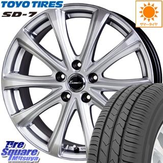 TOYOTIRES トーヨー タイヤ 国内メーカー SD-7 サマータイヤ 215/60R16 HotStuff エクシーダー E04 平座仕様(トヨタ車専用) 4本 ホイールセット 16インチ 16 X 6.5 +39 5穴 114.3