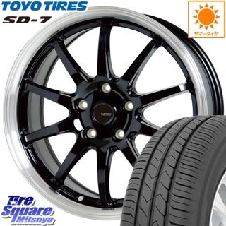 ステップワゴン HotStuff 軽量設計!G.speed P-04 ホイールセット 17インチ 4月末迄特価 17 X 7.0J +48 5穴 114.3TOYOTIRES トーヨー タイヤ 国内メーカー SD-7 サマータイヤ 215/45R17