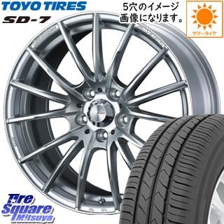 TOYOTIRES トーヨー タイヤ SD-7 サマータイヤ 225/45R17 WEDS SA-35R ウェッズ スポーツ ホイールセット 17インチ 17 X 7.0J +43 4穴 100
