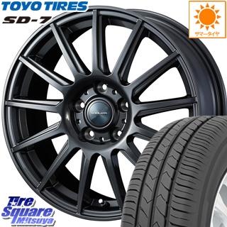 TOYOTIRES トーヨー タイヤ SD-7 サマータイヤ 225/45R18 WEDS ヴェルバ イゴール 平座仕様(トヨタ車専用) ホイールセット 4本 18インチ 18 X 7.5 +39 5穴 114.3