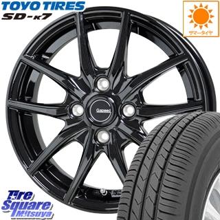 【5/15は最大37倍】 HotStuff G.speed G-02 G02 ブラック ホイールセット 13インチ 13 X 4.0J +45 4穴 100TOYOTIRES トーヨー タイヤ SD-K7 国内メーカー サマータイヤ 145/80R13