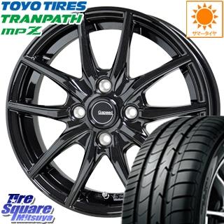 TOYOTIRES トーヨー トランパス MPZ ミニバン TRANPATH サマータイヤ 195/60R15 HotStuff G.speed G-02 ブラック ホイールセット 4本 15インチ 15 X 5.5 +43 4穴 100
