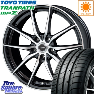 TOYOTIRES トーヨー トランパス MPZ ミニバン TRANPATH サマータイヤ 195/65R15 HotStuff 軽量設計!G.speed P-02 ホイールセット 4本 15インチ 15 X 6 +53 5穴 114.3