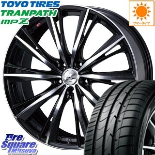 TOYOTIRES トーヨー トランパス MPZ ミニバン TRANPATH サマータイヤ 215/55R18 WEDS ウェッズ Leonis レオニス WX ホイールセット 4本 18インチ 18 X 7 +53 5穴 114.3
