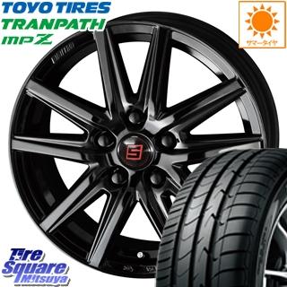 TOYOTIRES トーヨー トランパス MPZ ミニバン TRANPATH サマータイヤ 205/50R17 KYOHO SEIN-SS ザインSS ブラック ホイールセット 4本 17インチ 17 X 7 +48 5穴 100