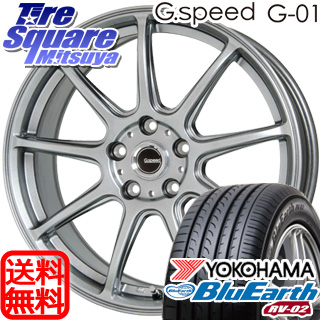 YOKOHAMA ヨコハマ ブルーアース RV-02 ミニバン サマータイヤ 215/45R18 HotStuff 軽量設計!G.speed G-01 ホイールセット 4本 18インチ 18 X 7.5 +48 5穴 114.3