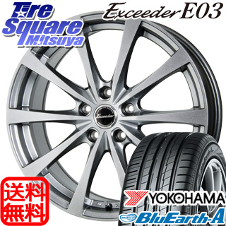 YOKOHAMA ヨコハマ ブルーアース エース AE50 Z サマータイヤ 215/55R17 HotStuff エクシーダー E03 4本 ホイールセット 17インチ 17 X 7 +38 5穴 114.3