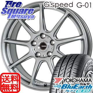 YOKOHAMA ヨコハマ ブルーアース AE-01F サマータイヤ 205/55R16 HotStuff G.speed G-01 ホイールセット 4本 16インチ 16 X 6 +45 5穴 100