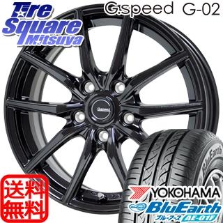 YOKOHAMA ヨコハマ ブルーアース AE-01F サマータイヤ 205/55R16 HotStuff G.speed G-02 ブラック ホイールセット 4本 16インチ 16 X 6.5 +38 5穴 114.3