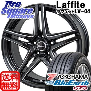 YOKOHAMA ヨコハマ ブルーアース RV-02 ミニバン サマータイヤ 205/65R15 HotStuff Laffite ラフィット LW-04 4本 ホイールセット 15インチ 15 X 6 +53 5穴 114.3