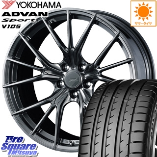 YOKOHAMA ADVAN sport V105 S サマータイヤ 225/45R19 WEDS F ZERO FZ-1 鍛造 FORGED ホイールセット 4本 19 X 8 +48 5穴 114.3
