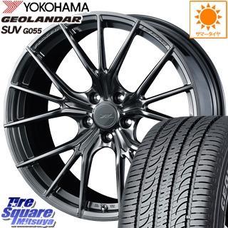 YOKOHAMA ヨコハマ ジオランダー SUV G055 サマータイヤ 225/55R19 WEDS F ZERO FZ-1 鍛造 FORGED ホイールセット 4本 19 X 8 +48 5穴 114.3