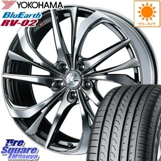 YOKOHAMA ヨコハマ ブルーアース RV-02 ミニバン サマータイヤ 225/65R17 WEDS ウェッズ Leonis レオニス TE ホイールセット 4本 17インチ 17 X 7 +47 5穴 114.3