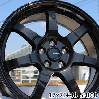 ブリヂストン DUELER デューラー H/P スポーツ サマータイヤ 215/55R17 HotStuff G-SPEED G-03 ブラック ホイールセット 4本 17インチ 17 X 7 +48 5穴 114.3